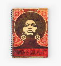 Angela Davis poster 1971 Spiral Notebook