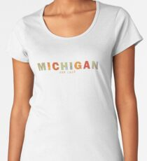 Modern Michigan Women's Premium T-Shirt