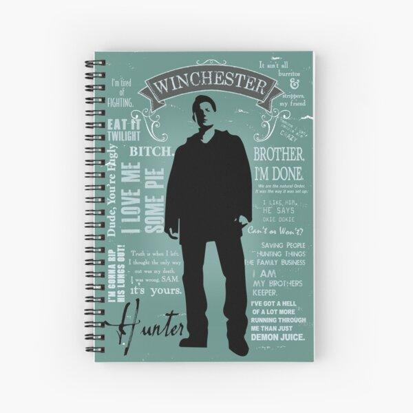 Dean Winchester Quotes Spiral Notebook