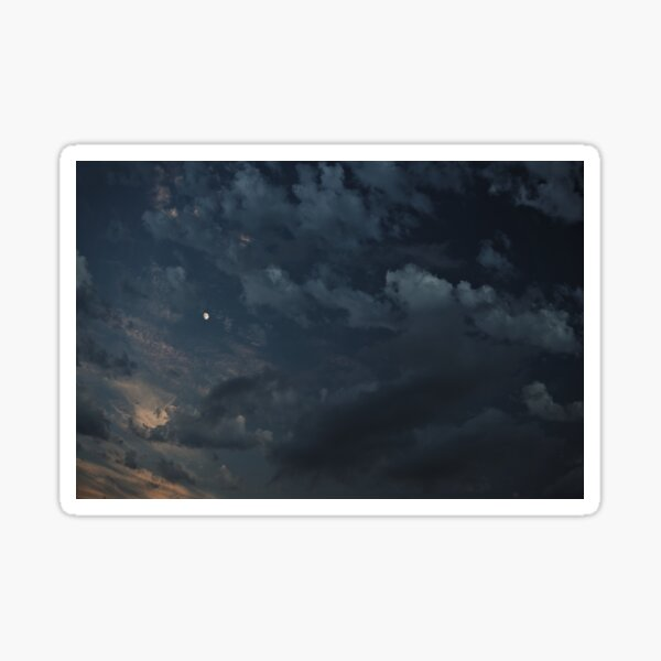 Clouds and the Moon Sticker