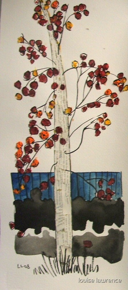 red tree by louise lawrence
