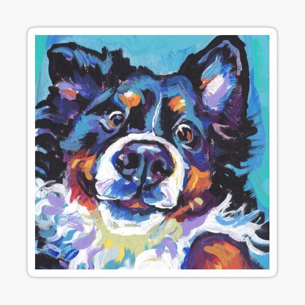 Bernese Mountain Dog Bright colorful pop dog art Sticker