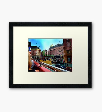 British Drive By Framed Print