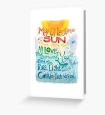 Long Time Sun Greeting Card