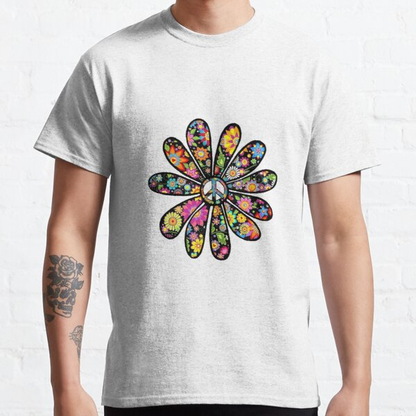 Flower Power and Peace Classic T-Shirt