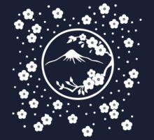 Mt. Fuji and Plum Blossoms - Winter