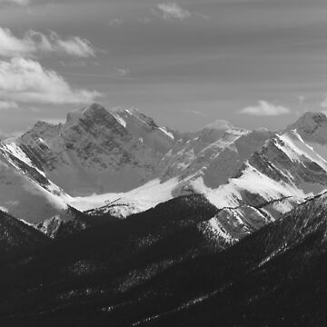 The Rocky Mountains in black and white by josefpittner
