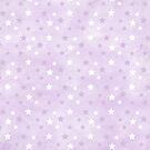 Purple & White Stars by Joanne Rawson