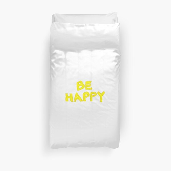 Be Happy, colorful hand writing on paper, happiness conceptual image Duvet Cover