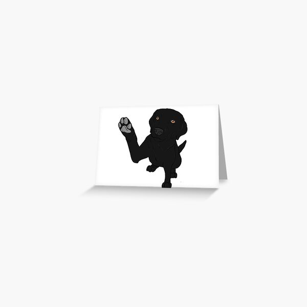 Give me Paw - - Black Lab  Greeting Card