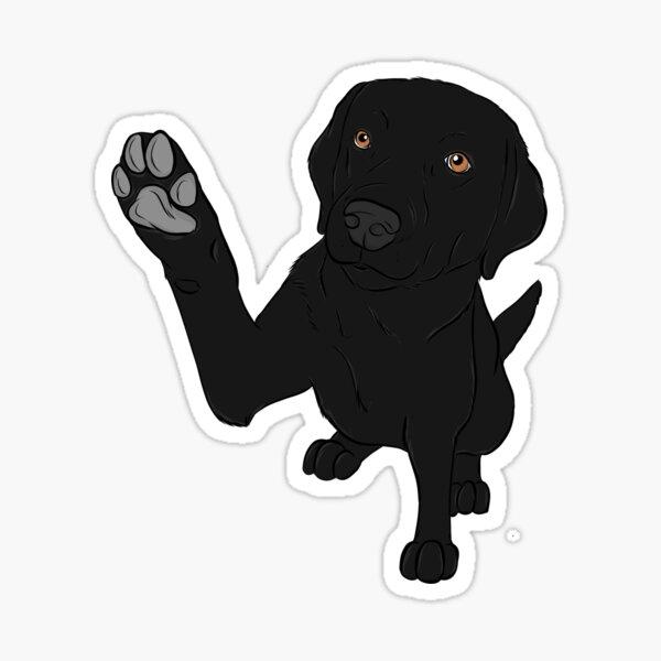 Give me Paw - - Black Lab  Sticker