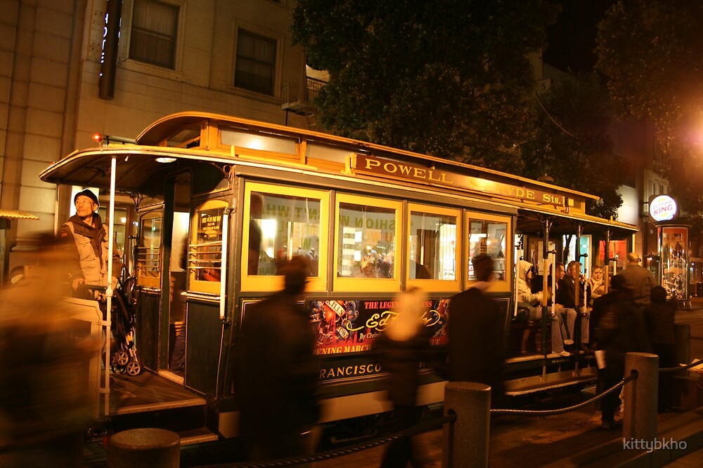 Cable Car in Downtown San Francisco by kittybkho