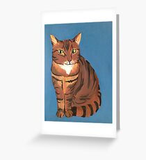 Sly Kitty Greeting Card