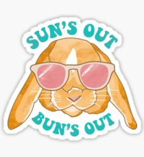 Sun's Out, Bun's Out Rabbit Illustration Sticker