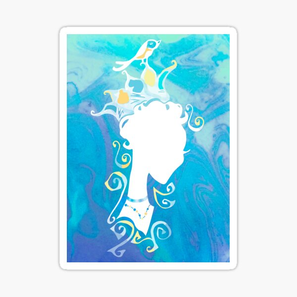 Summer's Phantom Blue Sticker