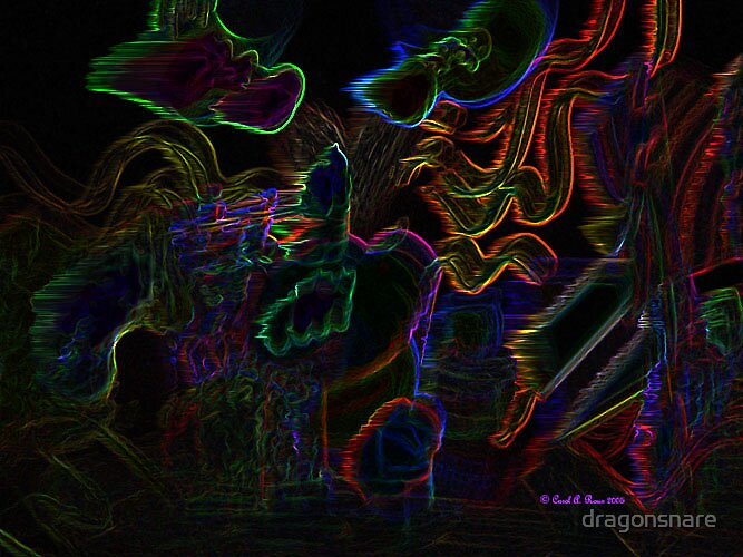 Neon abstract by dragonsnare