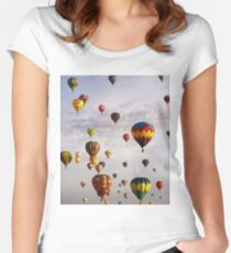 hot air Women's Fitted Scoop T-Shirt