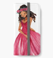 Girl with a Crown iPhone Wallet