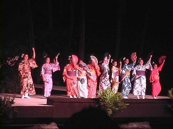Japanese dancers at a Luau in Hawaii, usa by chord0