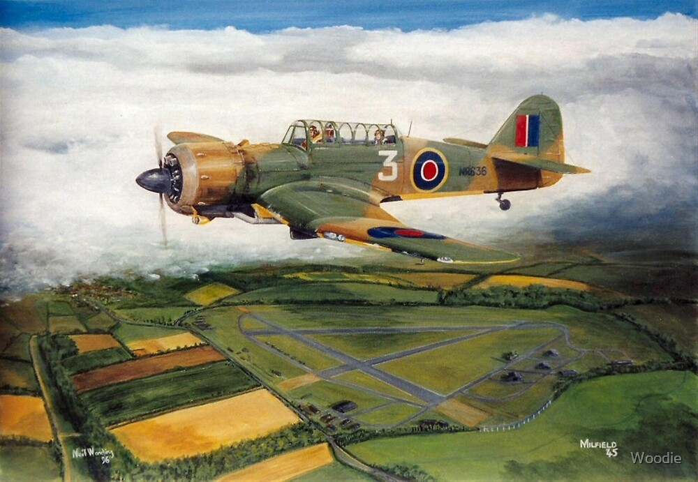 Martinet Target Towing 1945 by Woodie