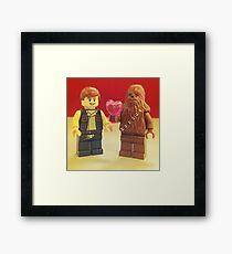 Han Loves Chewy Framed Print