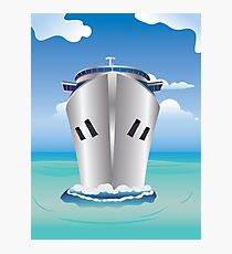 Cruise Liner in the Sea Photographic Print