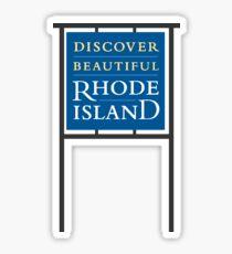Discover Beautiful Rhode Island - Frame Sticker