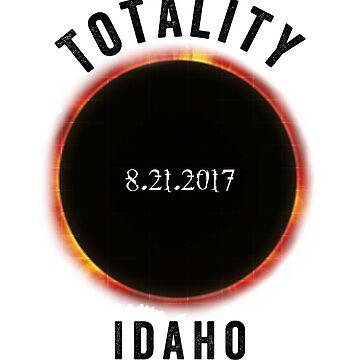 Total Solar Eclipse Idaho 08.21.2017 Cool Summer Novelty T-Shirt by arnaldog