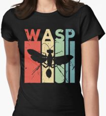 Wasp Vintage Retro Women's Fitted T-Shirt