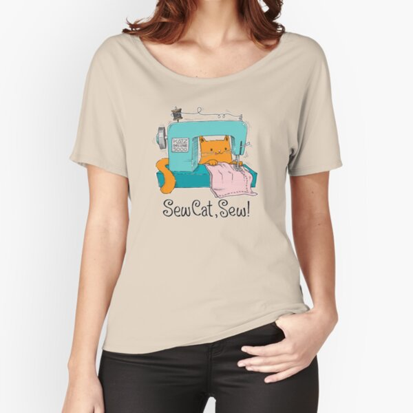 Sew Cat, Sew!  Relaxed Fit T-Shirt