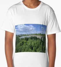Cliff sideTrees Near Water Long T-Shirt