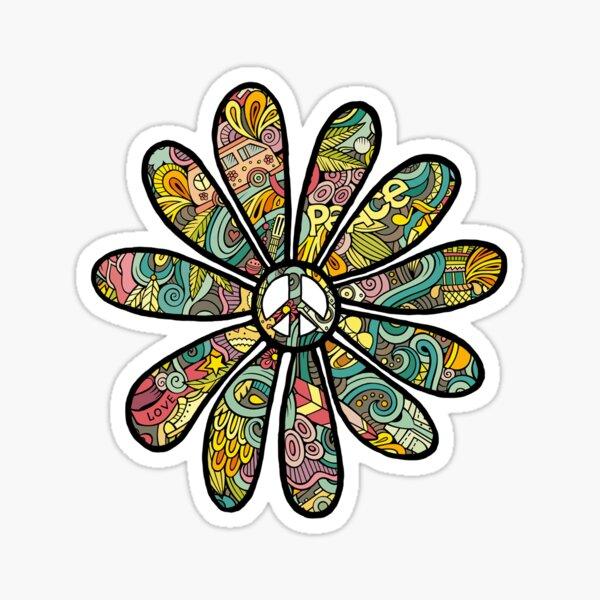 Hippy Trippy Flower Power  Sticker