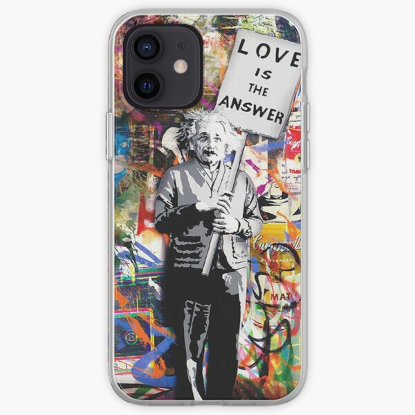 Banksy Albert Einstein Love Is The Answer Graffiti Vibe iPhone Soft Case