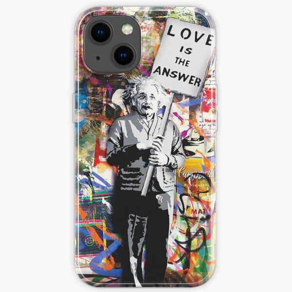 Banksy Albert Einstein L'amour est la réponse Graffiti Vibe Coque souple iPhone