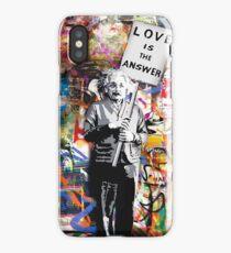 Banksy Albert Einstein Love Is The Answer Graffiti Vibe iPhone Case