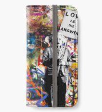 Banksy Albert Einstein Love Is The Answer Graffiti Vibe iPhone Wallet/Case/Skin