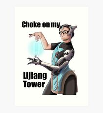 Lijiang Tower Art Print