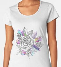 Rose and Crystals Women's Premium T-Shirt