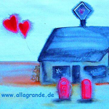 ...love station...art by Jutta Gabriel... von healingcolors