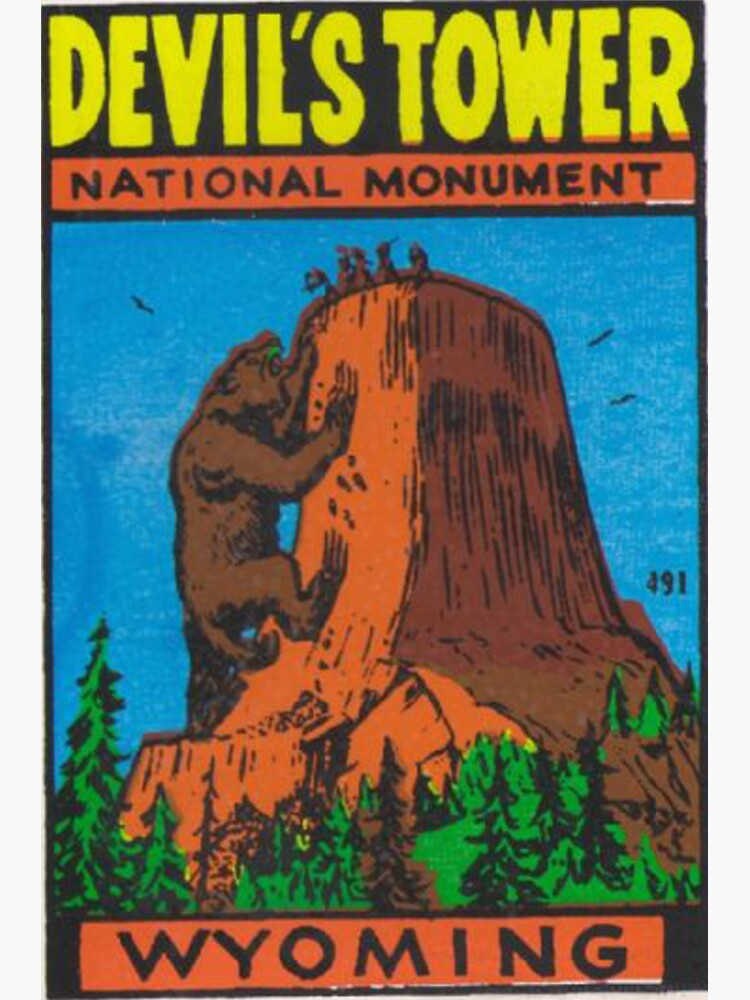 Devil's Tower National Monument Wyoming USA - Bear Lodge Mountains by MeLikeyTees