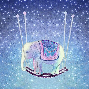 Dreamy Elephant Rocking the Stars by trishie