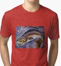 Vintage Blue Trout Fresco Tri-blend T-Shirt