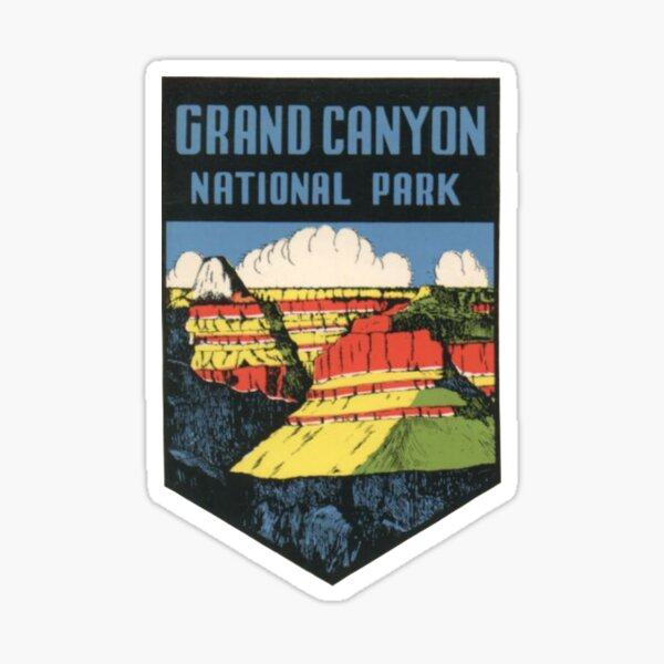 Grand Canyon National Park Vintage Travel Decal / Badge Sticker
