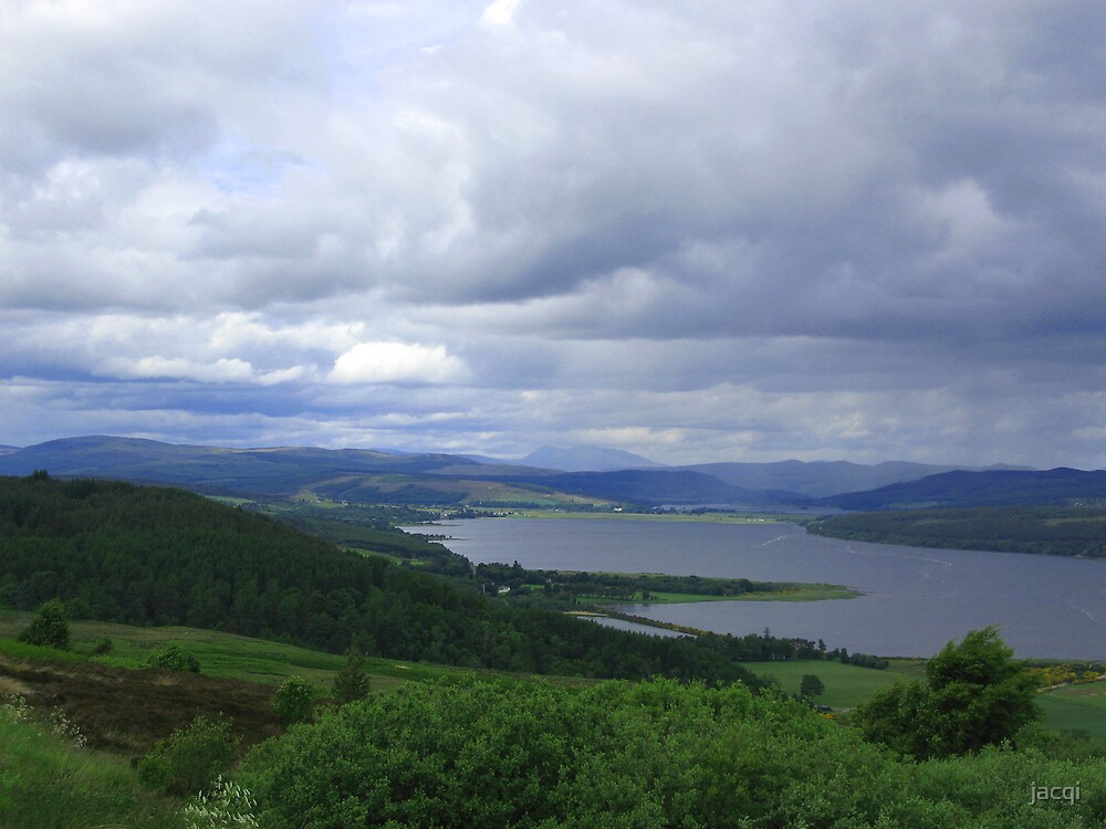 Kyle of Sutherland from Struie Hill by jacqi