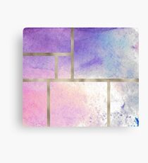 Pixie dust geometric watercolor ii Canvas Print