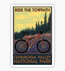 Cuyahoga Valley National Park Vintage Travel Decal -Towpath Trail Sticker