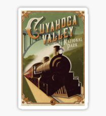 Cuyahoga Valley National Park Scenic Railroad Vintage Travel Decal Sticker