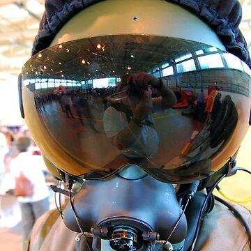 Modern Fighter Pilots Helmet by MarkJones
