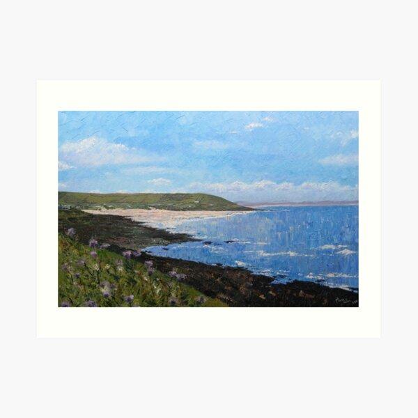 Croyde Bay Beach, Devon Art Print