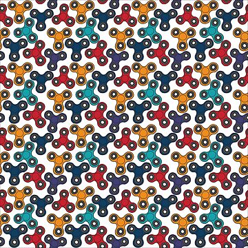 Pattern with spinners by Viktoriia